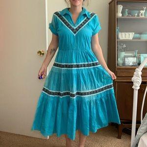 1950s Western Dress